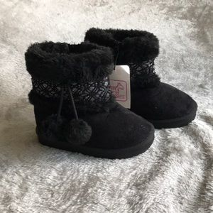 Toddler Girls Faux Suede Boots Size 8